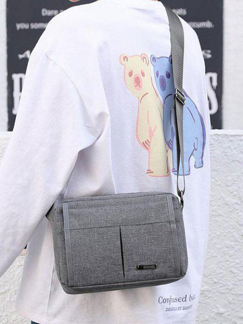 womens Brief Waterproof Shoulder Bag - GRAY CLOUD  Mobile