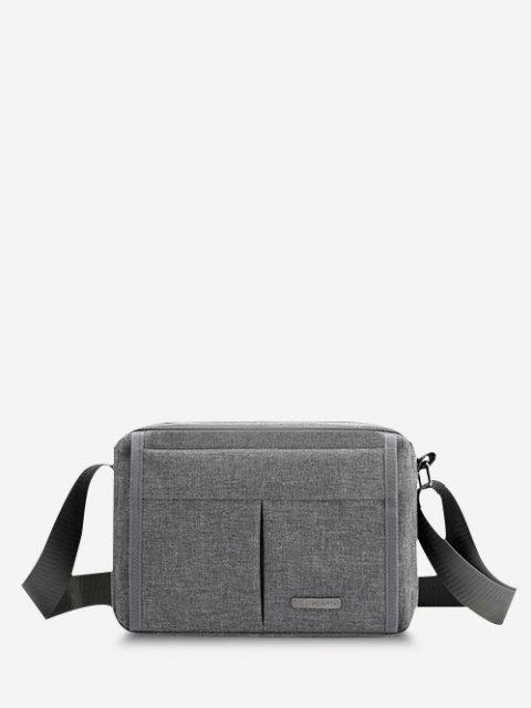 womens Brief Waterproof Shoulder Bag - GRAY CLOUD  Mobile