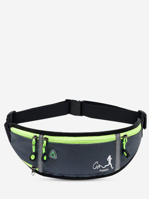 lady Running Waterproof Reflective Waist Bag - GRAY GOOSE  Mobile