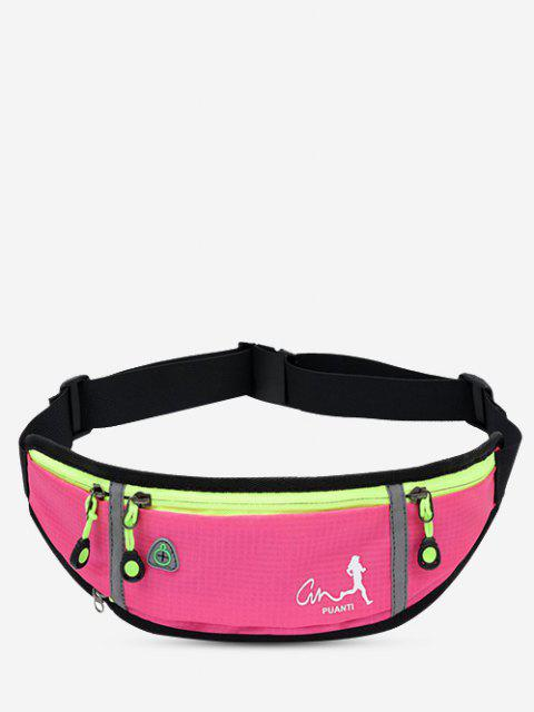 best Running Waterproof Reflective Waist Bag - ROSE RED  Mobile