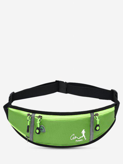 hot Running Waterproof Reflective Waist Bag - LAWN GREEN  Mobile