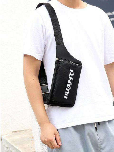 outfit Letter Printed Sports Waist Bag - BLACK  Mobile