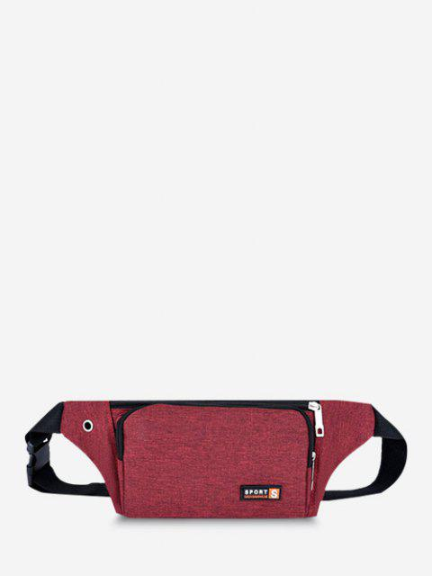 fancy Sports Mobile Phone Chest Waist Bag - RED  Mobile