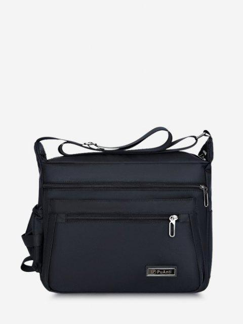 affordable Business Outdoor Rectangle Shoulder Bag - BLACK  Mobile
