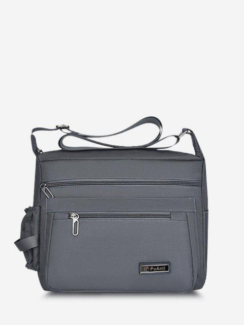 buy Business Outdoor Rectangle Shoulder Bag - GRAY  Mobile