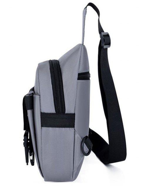 trendy Letter Pattern Buckles Chest Bag - GRAY  Mobile