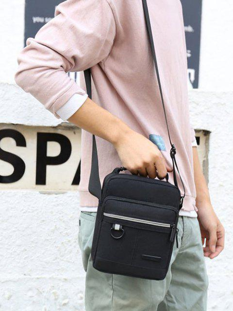chic Casual Business Zippers Shoulder Bag - BLACK  Mobile
