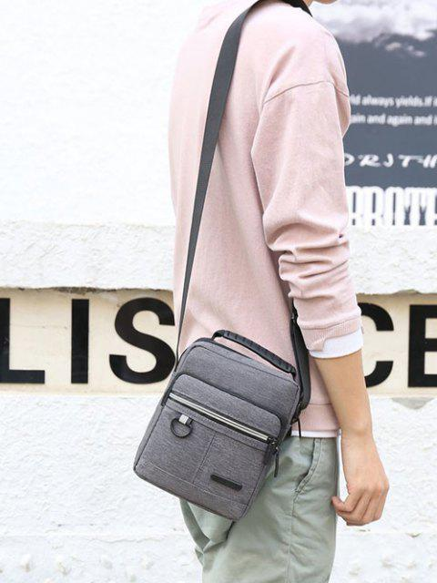 fancy Casual Business Zippers Shoulder Bag - GRAY  Mobile
