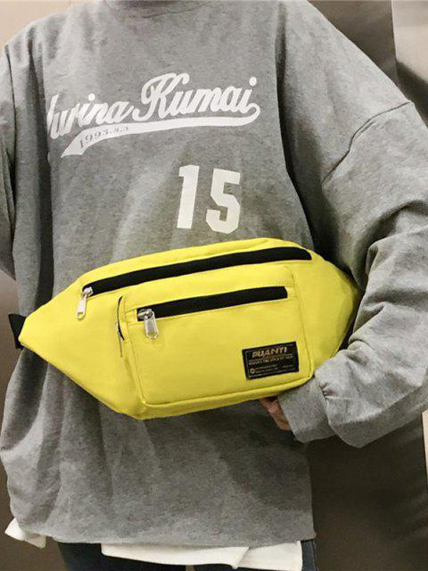 ladies Letter Label Outdoor Waist Bag - SUN YELLOW  Mobile