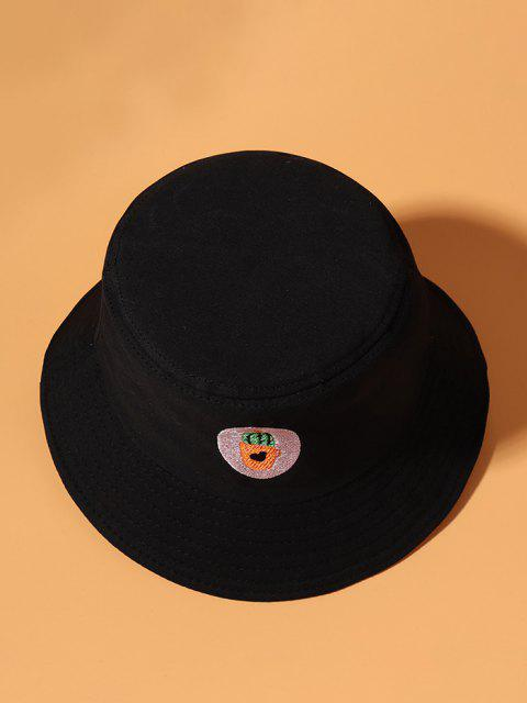 fashion Cactus Embroidered Bucket Hat - BLACK  Mobile