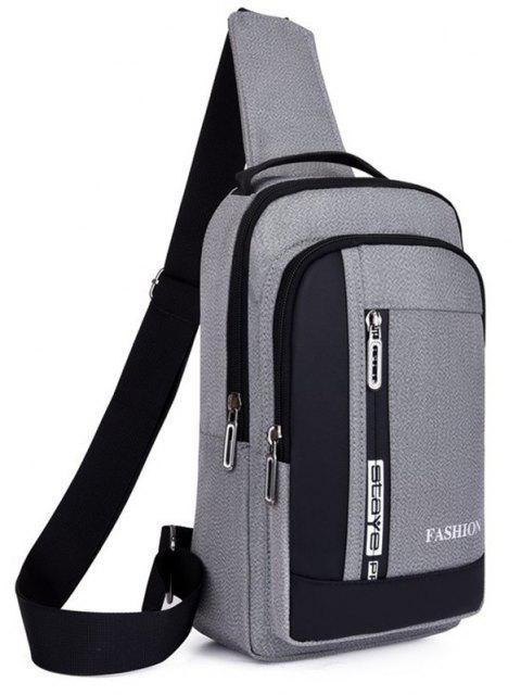 trendy Letters Print Multifunctional Chest Bag - LIGHT GRAY  Mobile