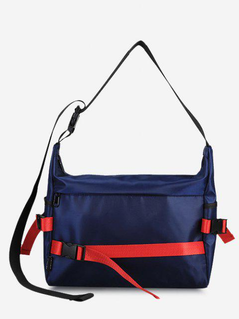 fancy Leisure Release Buckle Messenger Bag - DEEP BLUE  Mobile