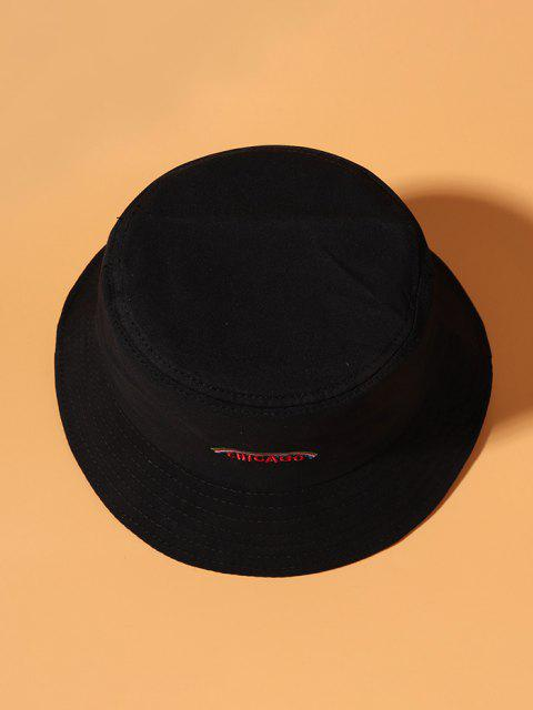 online Graphic Rainbow Embroidered Bucket Hat - BLACK  Mobile