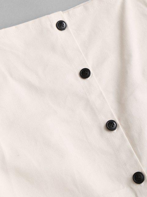 Mini-Pinafore-Kleid mit Knöpfen - Weiß S Mobile
