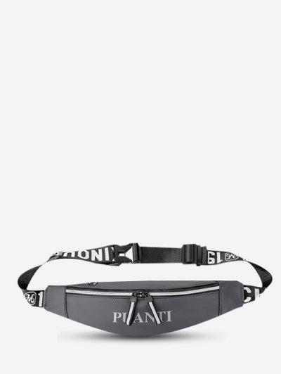 Letter Pattern Waterproof Cellphone Waist Bag - Gray Goose