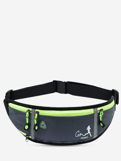 Running Waterproof Reflective Waist Bag - Gray Goose