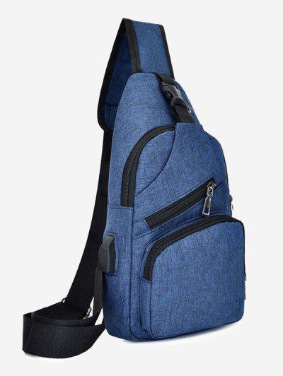 Leisure Multifunctional Chest Bag - Cadetblue