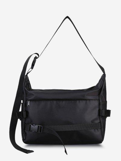 Leisure Release Buckle Messenger Bag - Black
