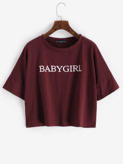 Camiseta Con Estampado De Chica En Talla Extra - Color Rojo Oscuro M
