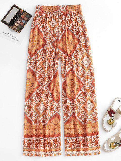 Pantaloni Stampati Banana con Coulisse - Arancione Scuro M Mobile