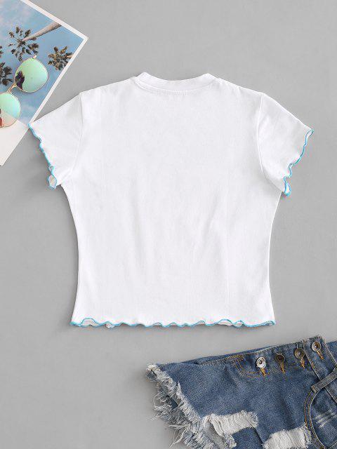Kopfsalat Trim Schmetterlingdruck Baby T-Shirt - Weiß M Mobile