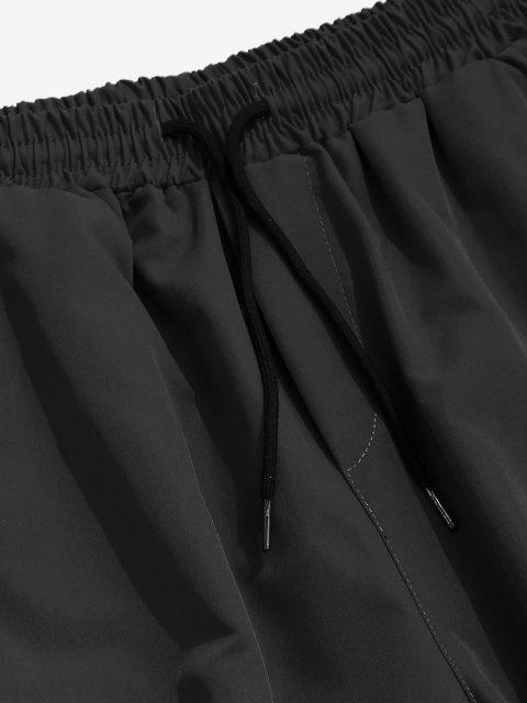 Brief Drucken, Um die Lose Hose zu Kippen - Schwarz XS Mobile