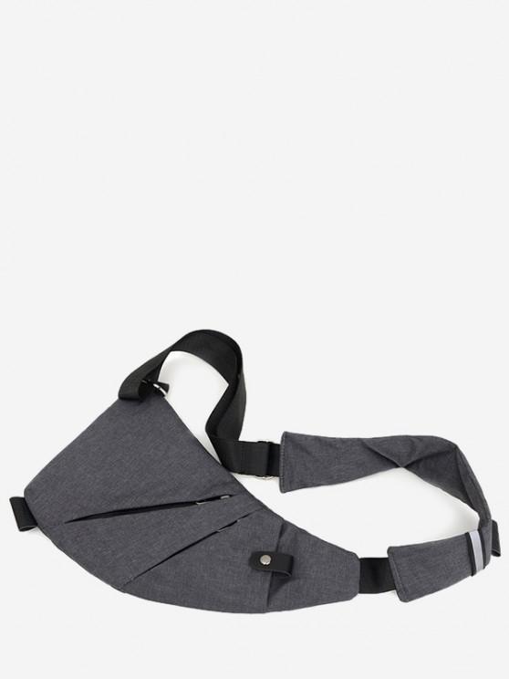 Reflective Multi Pocket Casual Sling Bag - اللون الرمادي