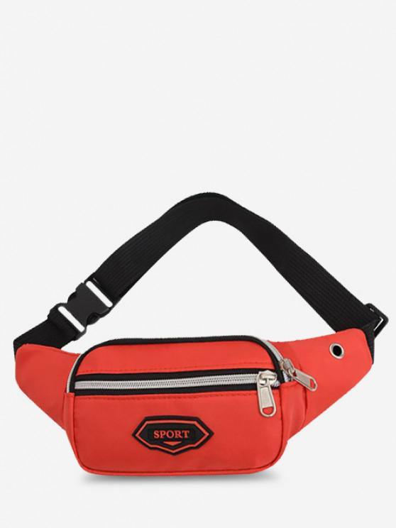 Outdoor Nylon Casual Mini Bum Bag - أحمر