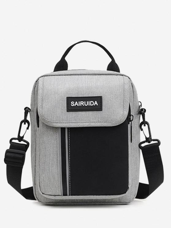 outfits Reflective Square Double Compartment Shoulder Bag - GRAY