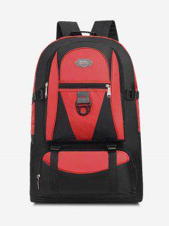 Multifunctional Waterproof Outdoor Travel Backpack - Red