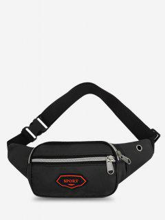 Outdoor Nylon Casual Mini Bum Bag - Black