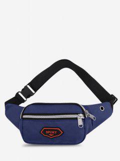 Outdoor Nylon Casual Mini Bum Bag - Deep Blue