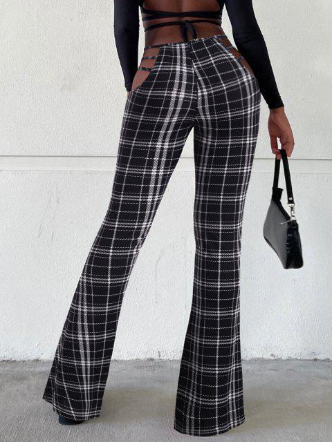 Pantalones Corte Bota Cuadros - Multicolor XL Mobile
