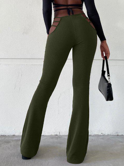 Pantalones Corte Bota Cintura Bota - Verde XL Mobile