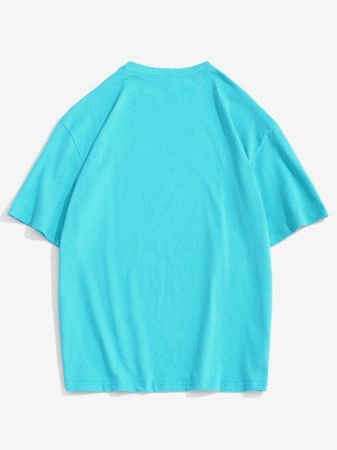 fashion Cartoon Bear Letter Short Sleeve T-shirt - CELESTE M Mobile