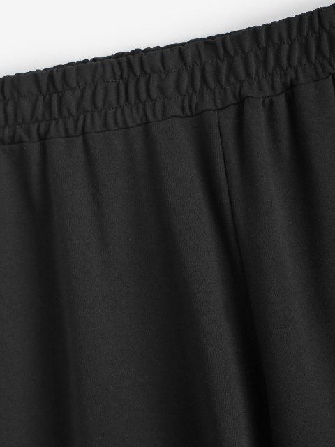 buy Mid Rise Snake Print Jogger Sweatpants - BLACK L Mobile