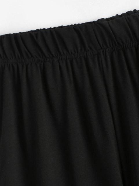 Pantaloni da Jogging a Blocchi di Colore - Nero S Mobile