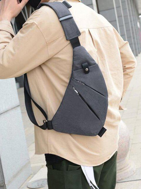 Reflective Multi Pocket Casual Sling Bag - اللون الرمادي  Mobile