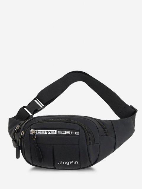 Bolsa Cintura Casual Estampado Multi Compartimiento - Negro  Mobile