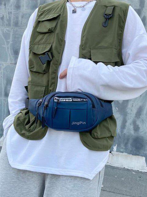 Sac de Taille Décontracté Multi-fonctionnel Imprimé - Bleu profond  Mobile