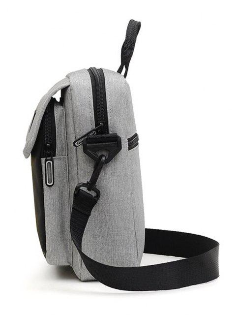 outfits Reflective Square Double Compartment Shoulder Bag - GRAY  Mobile