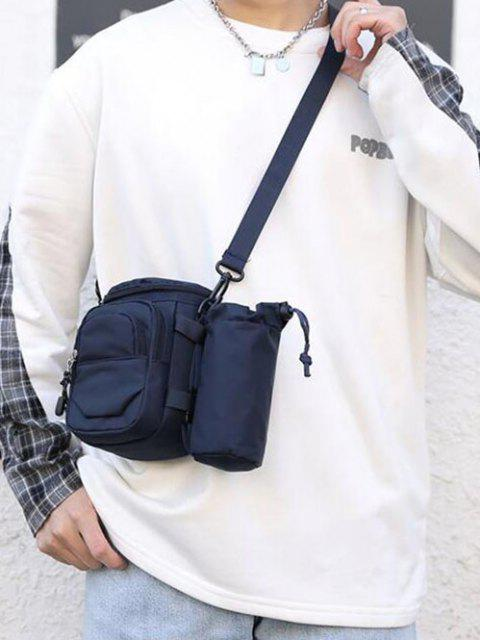 sale Multi Compartment Casual Outdoor Sling Bag - DEEP BLUE  Mobile