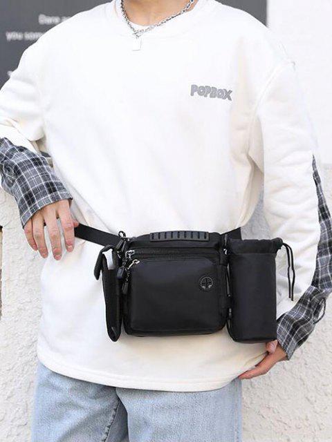 多機能防水屋外カジュアルスポーツバッグ - ブラック  Mobile