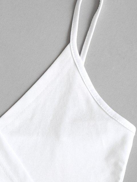 chic Surplice-front Cropped Camisole - WHITE M Mobile