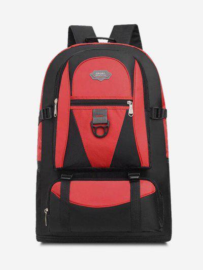 Multifunctional Waterproof Outdoor Travel Backpack - Red
