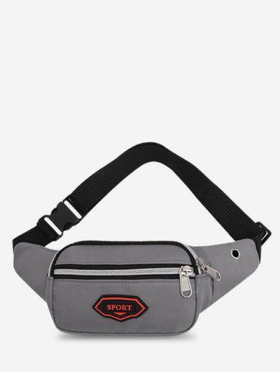 Outdoor Nylon Casual Mini Bum Bag - Gray