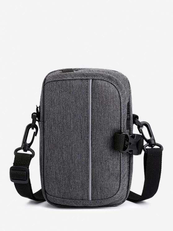 Multifunctional Convertible Casual Mini Waist Bag - اللون الرمادي