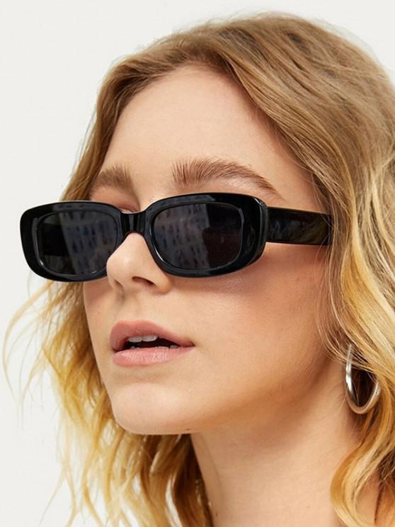outfits Narrow Rectangle Retro Sunglasses - NIGHT
