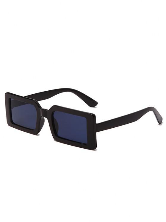 Retro Rectangle Street Sunglasses - أسود