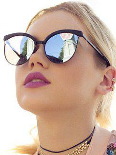 Retro UV Protection Round Sunglasses - Silver